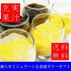 送料無料 凍らせるとジェラートな食感の選べるちゅるんジュレギフト ゼリー マンゴー コーヒー ブドウ みかん アイス