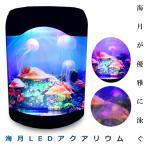 卓上 クラゲ が住む インテリア 水槽 ミニ 水族館 3色 イルミネーション クラゲ3匹 循環ポンプ タクアリウム KZ-AC0005   予約