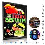 LED PRボード 30×40 看板 電光掲示板 メニュー ブラックボード KZ-LEDBD-3040 即納