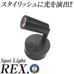 スポットライト 間接照明 レイ 配線不要 LEDライト バックライト 電池式 角度調節可能 昼白色 電球色 インテリア おしゃれ 人気 KZ-REX-SPOT 即納