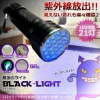 魔法のライト LED ブラックライト 21灯 汚れ 釣り 畜光力 絨毯 尿跡 チェック 偽造防止 ジェルネイル 残留確認 KZ-SHILI02 即納