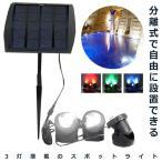 太陽光パネル スポットライト 3LED 電源不要 防水 屋外 エクステリア KZ-SHILI16 即納