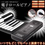 電子 ロールピアノ 61鍵盤 USB 電池 録音 再生 デモ曲 128種類 MIDI スピーカー内蔵 KZ-PU61S  即納