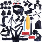 GoProに適用セッションヒーロー1 2 3 3+ 4 SJ4000 5000 カメラ用アクセサリーセット MA-9