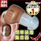 小型集音器  便利な両耳対応 音量調節 収納ケース付き 補聴器 目立たない 電池式 HOCHOZ