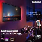 リモート式 ディバイン LED バックライト 100cm 照明 間接 おしゃれ フロアライト テレビ 壁 20色 切り替え インテリア RIMODYUBA