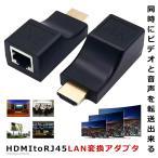 HDMI 鮮明アダプタ 延長器 HDMI to RJ45 LAN 変換 HDCP パソコン モニタ 監視カメラ TV テレビ 4K SENMEAD