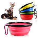 ペット食器 餌入れ ペットボウル 水 餌やり 折り畳み式 携帯 フック付き 猫 犬 ウサギ 鳥 PETSHOKI