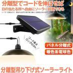 分離型LEDソーラーライト 暖色系 電球色 ペンダントライト リモコン付き 常夜灯 吊り下げ 夜間自動点灯 IP65防水 太陽光発電 ガーデン BURADAN