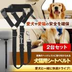 ペット 犬用 猫 シートベルト 2台セット ペット 犬用 猫 ドライブ 車専用リード 安全ベルト 飛びつく防止 簡単装着 2-SHARIHON