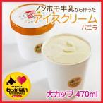 稚内牛乳のアイスクリーム-バニラ-大カップ470ml 稚内牛乳使用/無添加アイス/バニラ