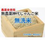 無農薬米・神代じゃんご米【玄米1kgを精米・無洗米加工】
