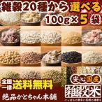 【20種から選べる5品】雑穀各種 100g×5袋 5種お試しセット 送料無料 (人気雑穀米 話題のもち麦 黒米など)選べる豪華5点セット
