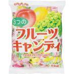 扇雀飴本舗 3つのフルーツキャンディ 1kg入×3