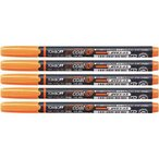 トンボ鉛筆 蛍光マーカー 蛍コート80 橙 5本パック