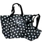 イケア IKEA エコバッグ 袋 ドットバッグ バッグ 2枚セット (Sサイズ×1枚 Mサイズ×1枚 )SKRUTTIG(M袋D-sm)