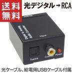 光デジタル → RCA 変換器 DAコンバーター TOS Toslink 光ケーブル付き