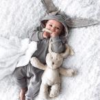 ベビー服 ベビーウェア 子供服 カバーオール ロンパース ボディオール パーカー ウサミミ 耳付きフード 赤ちゃん BABY 秋冬 つなぎ オールイン