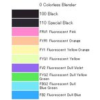 コピック バリオスインク単色 カラーレス・ブラック・蛍光 25cc