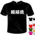 バレーボールドライTシャツ(カラー5色) 漢字おもしろTシャツ 排球魂Tシャツ 送料無料 河内國製作所