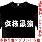 スポーツ 漢字 おもしろTシャツ (5×6色) (ドライ加工) 立技最強Tシャツ 格闘技 送料無料 河内國製作所