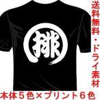 バレーボールドライTシャツ(カラー5色) 排球Tシャツ 一文字バックプリント 送料無料 河内國製作所