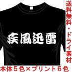 漢字おもしろTシャツ(カラー5色) 疾風迅雷Tシャツ 四文字熟語 ユニークなメッセージてぃしゃつ 送料無料 河内國製作所