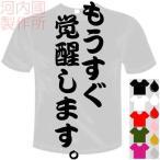 おもしろTシャツ(カラー5色) 面白メッセージ もうすぐ覚醒します。Tシャツ ユニークなセンテンス系てぃしゃつ 送料無料 河内國製作所