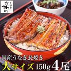国産 大サイズ うなぎ 蒲焼き 150g-169g×4本 送料無料 鰻 ギフト 蒲焼