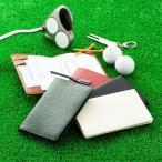 ゴルフ スコアカードケース スコアカードホルダー スコアカードカバー 牛革 ゴルフ用品 メンズ レディース ごるふ プレゼント