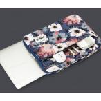 KINMAC 人気な花柄ノートパソコンケース PCバッグ PCケース かわいいデザイン 防水持ち手付き 女子おしゃれ