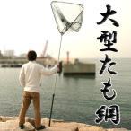 超大型サイズ 大型たも網 全長最大約285cm 川・海・船舶の上までx6本セット/卸//カワネット