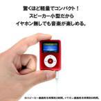 デジタルオーディオプレイヤー DT-SP08赤 スピーカー搭載/ボイスレコーダ機能/カワネット