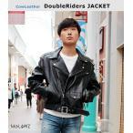 革ジャン メンズ 黒 本革 安い 大きいサイズ ダブル ライダースジャケット レザージャケット 牛革