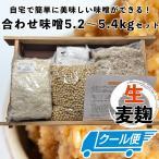 手作り味噌セット 合わせ味噌5kg(約5.5kg 無添加・九州産) 味噌作りセット キット