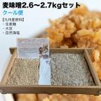 【クール便】味噌作りセット 麦味噌2.7kg(約2.6〜2.7kg 生麦麹・無添加・九州産) 手作り味噌セット