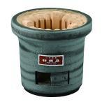 黒木炭コンロ大型 銀(杉浦和徳作)(三河焼・陶器・七輪・コンロ・燃焼器具)