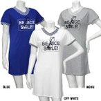 女児 「Aqua Historyアクアヒストリー」 Vネック ロゴ めがね 半袖 Tシャツ ワンピース サイズ140/150/160cm  55-0002-AQ