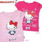 女児「 ハローキティ 」BIG プリント  フレンチ 半袖 Tシャツ サイズ100/110/120/130cm  742KT1011