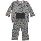 ベビー 男児 はたらく車 総柄 腹巻付 長袖パジャマ  上下組 サイズ80/90/100cm 847-31058