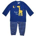 ベビー 男児 キリン アップリケ 裏起毛 パジャマ 上下組 あったかパジャマ サイズ80/90/95cm 847-48151