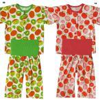 ベビー 男女児 フルーツ 2柄 腹巻き 付 半袖 前開き パジャマ サイズ80/90/95cm H7311