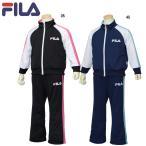 女児  「FILA フィラ 」 ロゴ ジャージスーツ 上下組 ウォームアップスーツ バックビッグロゴ スムース サイズ130/140/150/160cm J8700