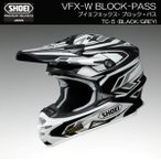 SHOEI VFX-W BLOCK-PASS ブロック・パス TC-5 BLACK/GREY