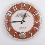 掛け時計 チェルシーラウンドホール振り子時計 電波時計 壁掛け時計 おしゃれ 掛時計 北欧 時計 インテリア 振り子時計