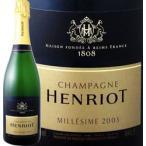 白スパークリングワイン アンリオ・ブリュット・ミレジメ 2003 シャンパン 750ml 正規 Henriot