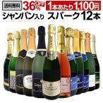 シャンパン スパークリングワイン 白 セット イタリア フランス スペイン 12本 wine set sparkling 750ml 辛口 第18弾