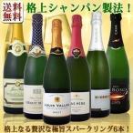 スパークリングワインセット 送料無料ぜんぶ瓶内2次発酵のシャンパン製法クレマン&カバなど極旨至福スパークリング6本 wine sparkling set