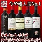 ショッピング赤 ワインセット 赤セット 赤ワイン 送料無料 今や輸入量ナンバーワンに輝くチリ 人気のカベルネ・ソーヴィニョン5本セット 第二弾 wine set