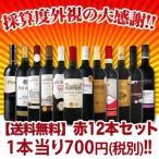 ショッピング赤 ワインセット 赤セット 送料無料 1本あたり700円税別 厳選赤ワイン12本セット wine set